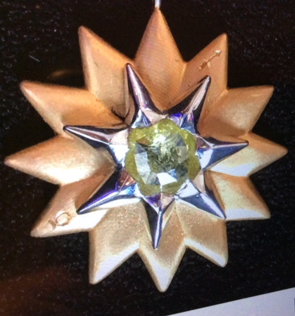 18K Yellow Gold and Platinum 12 Pointed Astrological Star