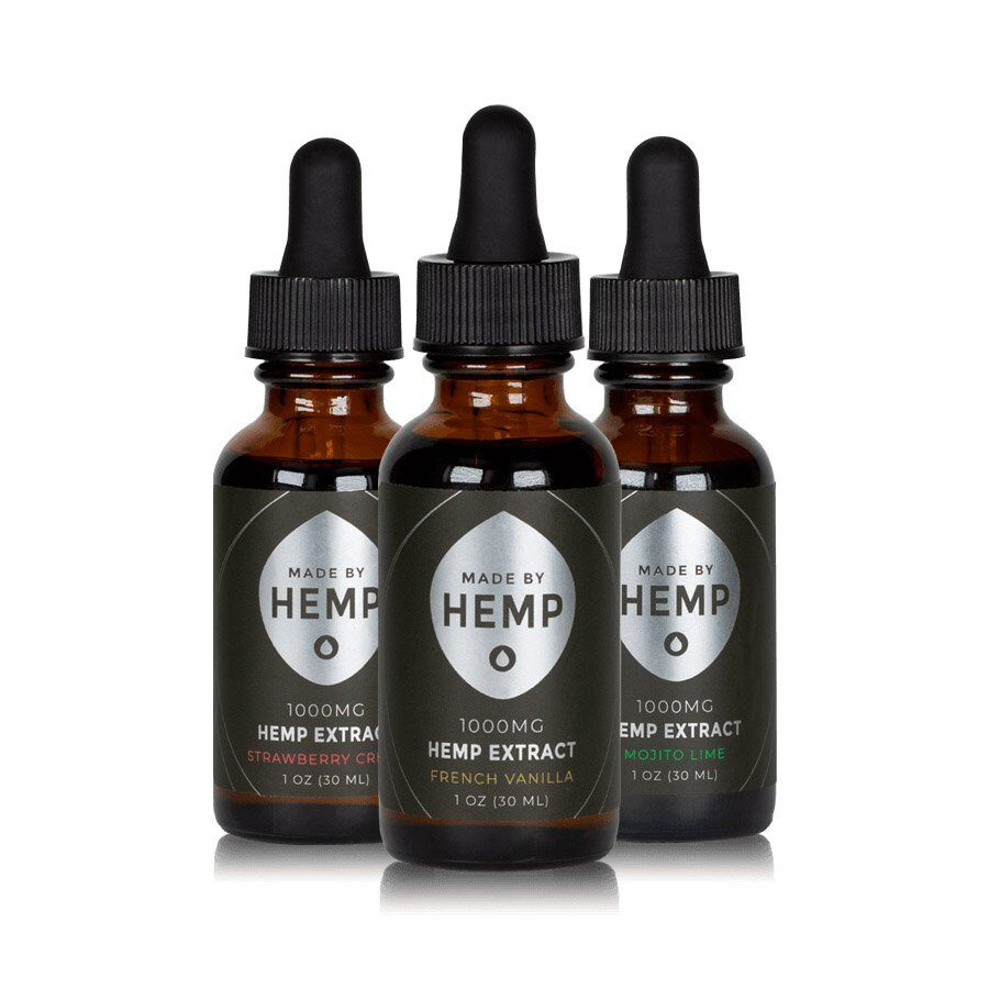 Hemp Extract with MOJITO LIME, FRENCH VANILLA, STRAWBERRY CRÈME