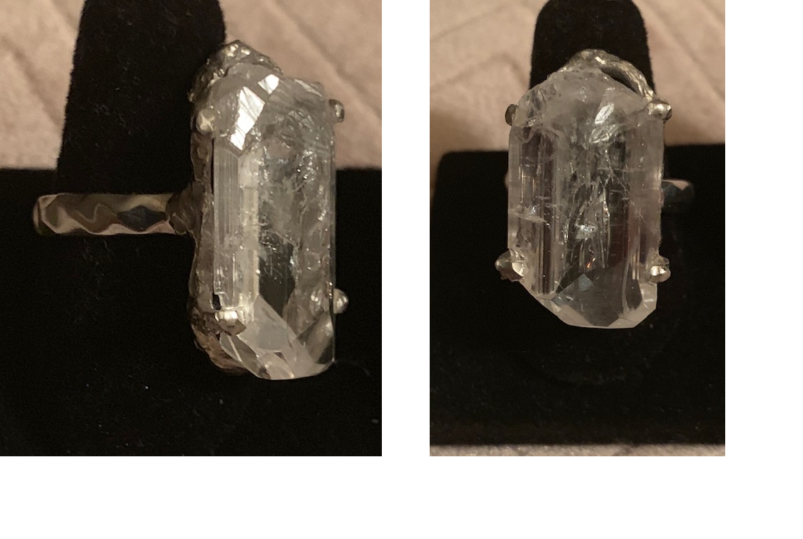 Danburite Ring in Sterling Silver