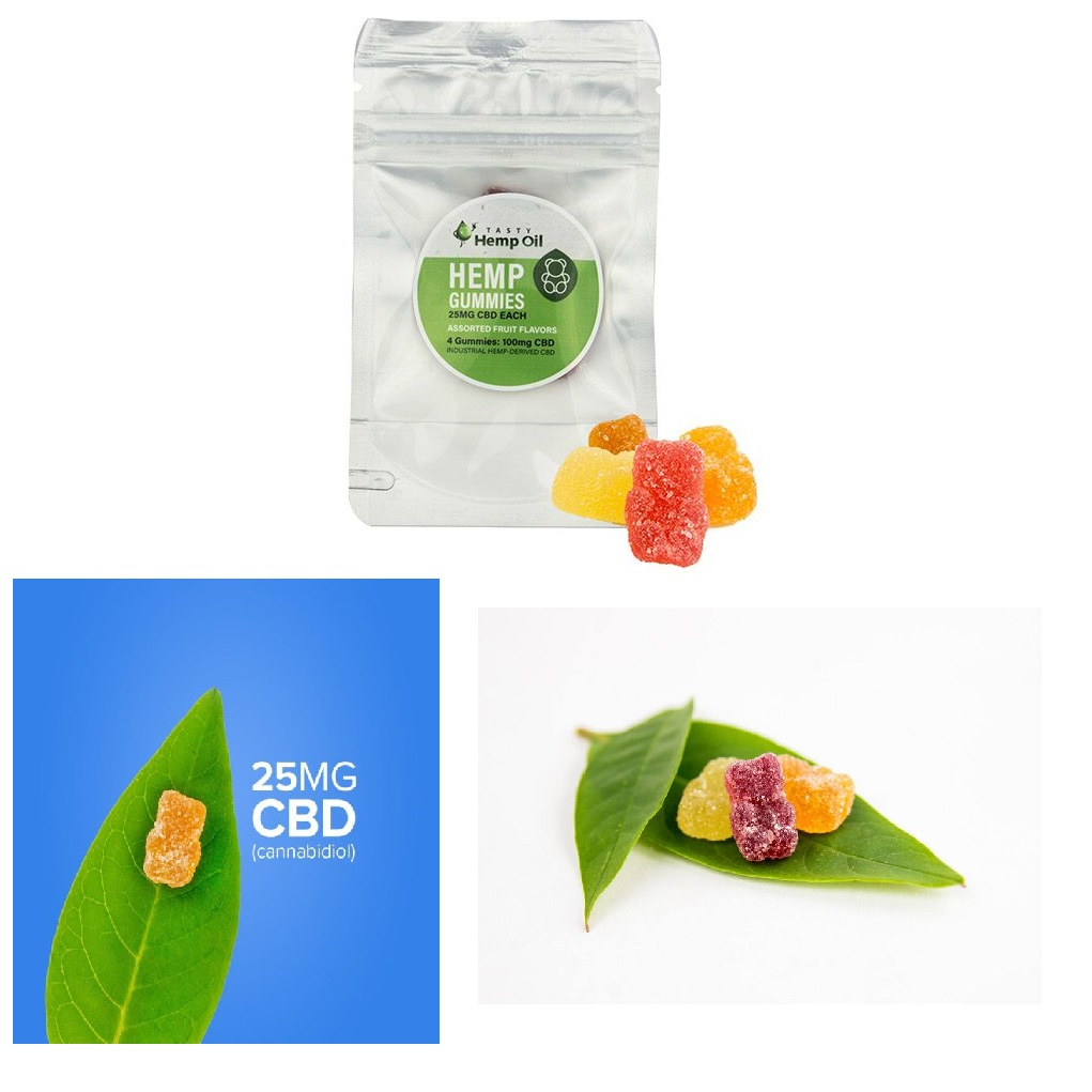 Tasty Hemp Oil – CBD Gummies 4 Count (25mg CBD Each)